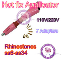 pink color Hot Fix Hotfix rhinestone Applicator Wand irons on guns garment accessories DIY heat fix tools(China)