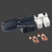 50sets high temperature resistance ceramic H2 /H7 socket cover terminal connector