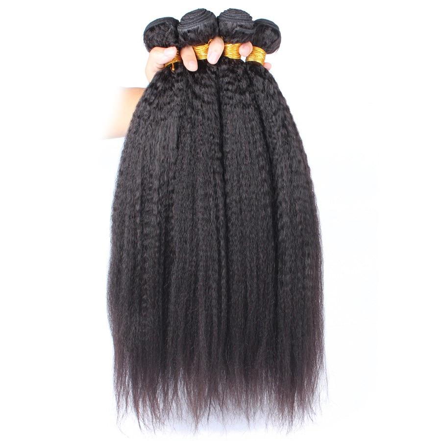 7A Peruvian Virgin Hair 3pcs/Lot Kinky Straight/Coarse Yaki/Italian Yaki Human Hair Weaves Bundles<br><br>Aliexpress