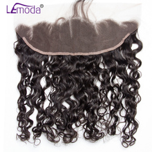 13x4 Ear to Ear Malaysian Water Wave Lace Frontal Closure Pre Plucked With Baby Hair LeModa Remy Hair Frontal Free Shipping(China)