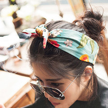 Women Headband Turban Baby Head Wrap Band Hair accessories Girl Hairbands 2017 New Vintage Floral Print Cotton fabric Hair Band(China)