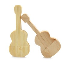 Wooden Bamboo Guitar pen drive Natural Bamboo USB Flashdrive 64GB 32GB 16GB 8GB memory stick 128GB