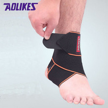 AOLIKES 2Pcs /Lot Sport Pressurized Ankle Wraps Protector Bandages Elastic Thin Adjustable Ankle Strain Sprain Assisted Recovery