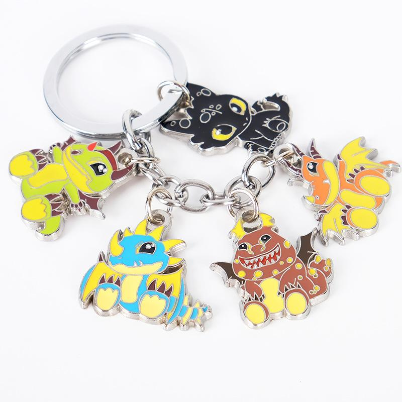 How To Train Your Dragon Keychain Toothless Dragon Night Fury Car Bag Handbag Couple Key Chains Accessories 20pcs
