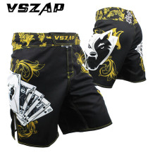 VSZAP Clothing MMA Training Shorts Cage Fighting Grappling Martial Arts Boxing Muay Thai Kickboxing Short