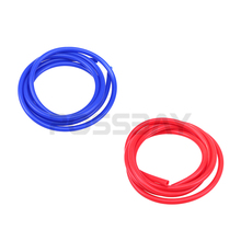 POSSBAY Universal Car Styling 2M 3mm/4mm/6mm/7mm Vacuum Hose Tubing Blue/Red Water Hose Exhaust Pipe Silicone Vacuum Tube(China)