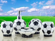 Continental Resin Bathroom Set Sanitary five Toiletries kit Bathroom Sets World Cup Football 2014
