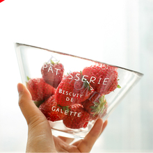 K2 HOME Premiun Clear 6 Inch Salad Serving Round Mixing Bowl Glass Vase Terrarium Fruit Soup Bowl With Printing(China)