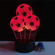 New Colors Changing Soccer Ball Light Football 3D Visual Led Night Light USB Novelty Table Lamps as Home Decor Besides Lampara(China)
