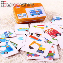 BalleenShiny 32pcs/set Early Education Puzzles Vehicle Animal Fruit Kids Learning Toy For Newborn Baby Kids Boys Girls Gift
