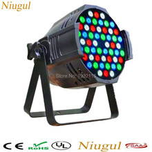 Niugul dj lights/ 54x3w rgbw led par 64/ led DMX stage effect par light/ led wash 54x3w disco party light/par led Free shipping