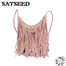 Hand-woven Tassel Bags Restoring Ancient Ways Bohemia Style Shoulder Lady bags Wholesale 2017 New(China)