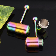 Body Piercing Jewelry Wholesale Fashion Vibrating Tongue Bar Stud Ring 10pcs Rainbow Color Multicolor