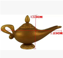 Classic Fairy Tale Aladdins Magic Lamp Tea Pot Genie Lamp Vintage European Style For Bookrack Photography Props Home Decorations(China)