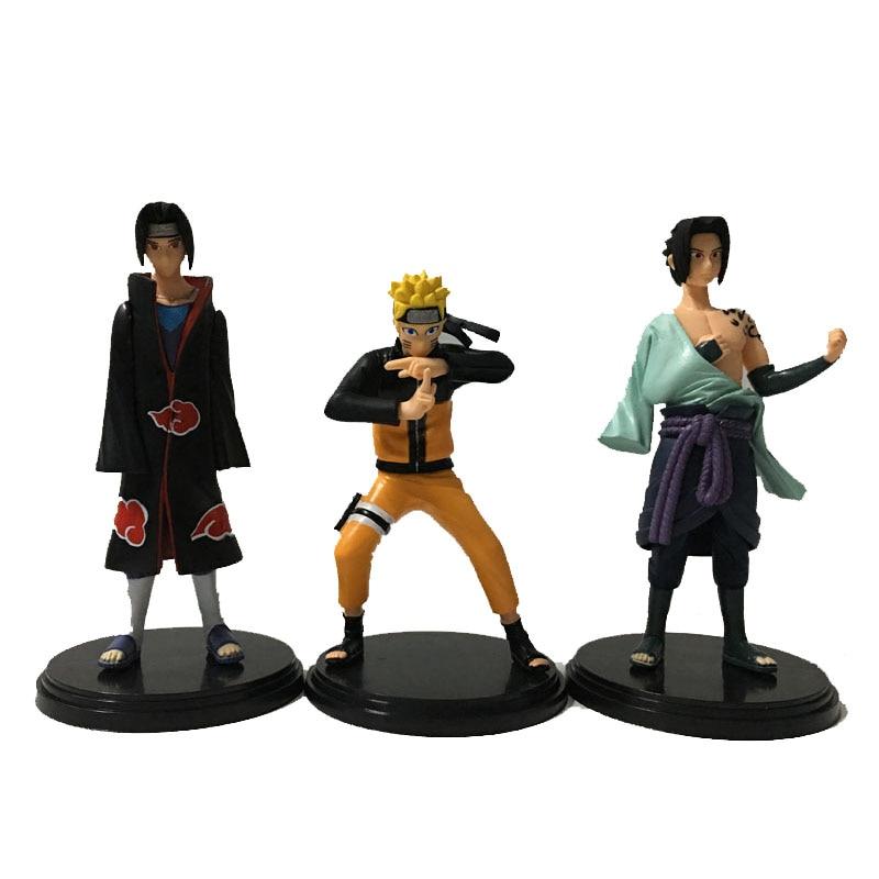 3pcs/set Hokage Uzumaki Naruto Uchiha Sasuke Model Anime Action Figure 3th Generation PVC 17cm Cartoon dolls Collection Gift<br><br>Aliexpress