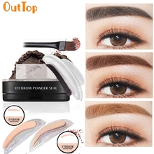 OutTop Love Beauty Female  Women Cosmetic Makeup Eyebrow Stamper Powder Perfect Enhancer 170222 Drop Shipping
