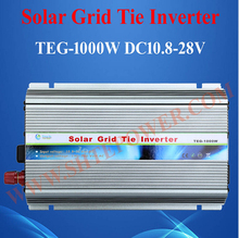 DC 12V 24V to AC 90-130V 190-260V Grid Connect Solar Inverter 1000W With MPPT Function(China)