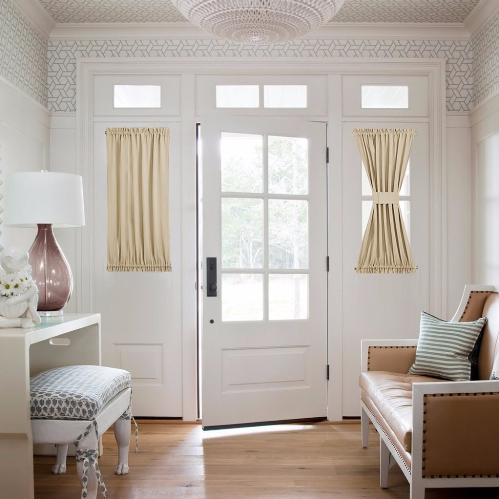 Sidelight panel curtains
