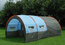 Sale 8-10 person tunnel 2 bedroom 1 living room team base party family travel hiking beach disaster relief outdoor camping tent(China)