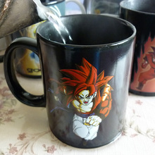 Dragon Ball Z Vegeta Mug Anime Vegeta Super Saiyan State Design Heat-Sensitive Reactive Ceramic Color Changing Mugs(China)