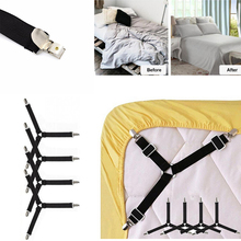 4Pcs Adjustable Bed Sheets Holder Clip Fitted Sheet Supply Mattress Tablecloth Curtains Sofa Straps