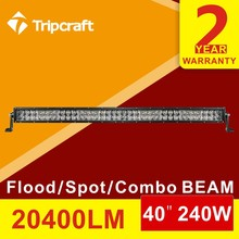 240W 4DLED light bar led Work Light Bar Spot Flood Offroad SUV ATV UTV 4x4 4WD Auto light 12 24V waterproof double rows