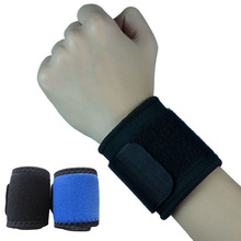 Wrist Brace Wrap Bandage Support Gym Strap Adjustable Sports Wristband Blue Black P15(China)