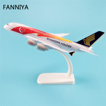 20cm Red Star Moon Air Singapore Airlines Airbus 380 A380 Airways Plane Model W Stand Metal Airplane Model Aircraft Gift