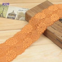 Embroidered  Ribbon Guipure Lace Tulle Fabric,Orange Flower pattern  Trim.2016 New Arrival Sewing Material for Clothes Tape.