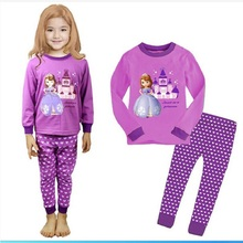 Maggies Walker Girl Pajama Princess Sofia Pajama Kid Sleepwear Birthday Costume Cartoon Pajama Winter Nightwear Children Pajamas