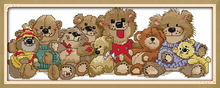 Joy sunday cartoon style Baby bears free counted cross stitch christmas design handwork embroidery kits for craft gifts(China)