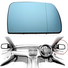 1Pc Right Side Door Wing Mirror Glass Heated Blue Passenger For BMW X5 E53 99-06 Car-styling Car Rearview Heating Tinted Mirror