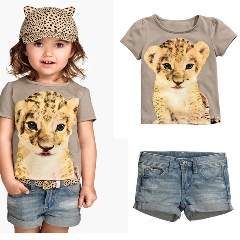 Girls Clothing New Fashion Cartoon Tiger Clothes Sets Baby Children Suit Sets Kid Apparel Set T-Shirt+Shorts 2 Suit Bebe <br><br>Aliexpress