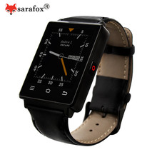 Sarafox New 1G RAM 8 G ROM Quad Core 3G mtk6580 Smart Watch No.1 D6 Android 5.1 Wear WiFi GPS Smartwatch no 1 d6 FM Radio wach