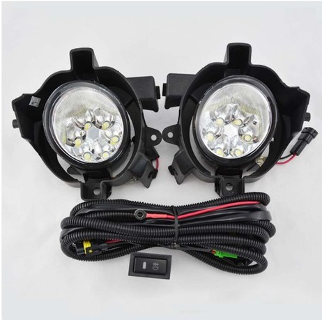 Hireno Super-bright LED Daytime Running Light for Nissan QASHQAI 2008 2009 2010 2011 2012 Car LED DRL fog lamp 2PCS<br><br>Aliexpress