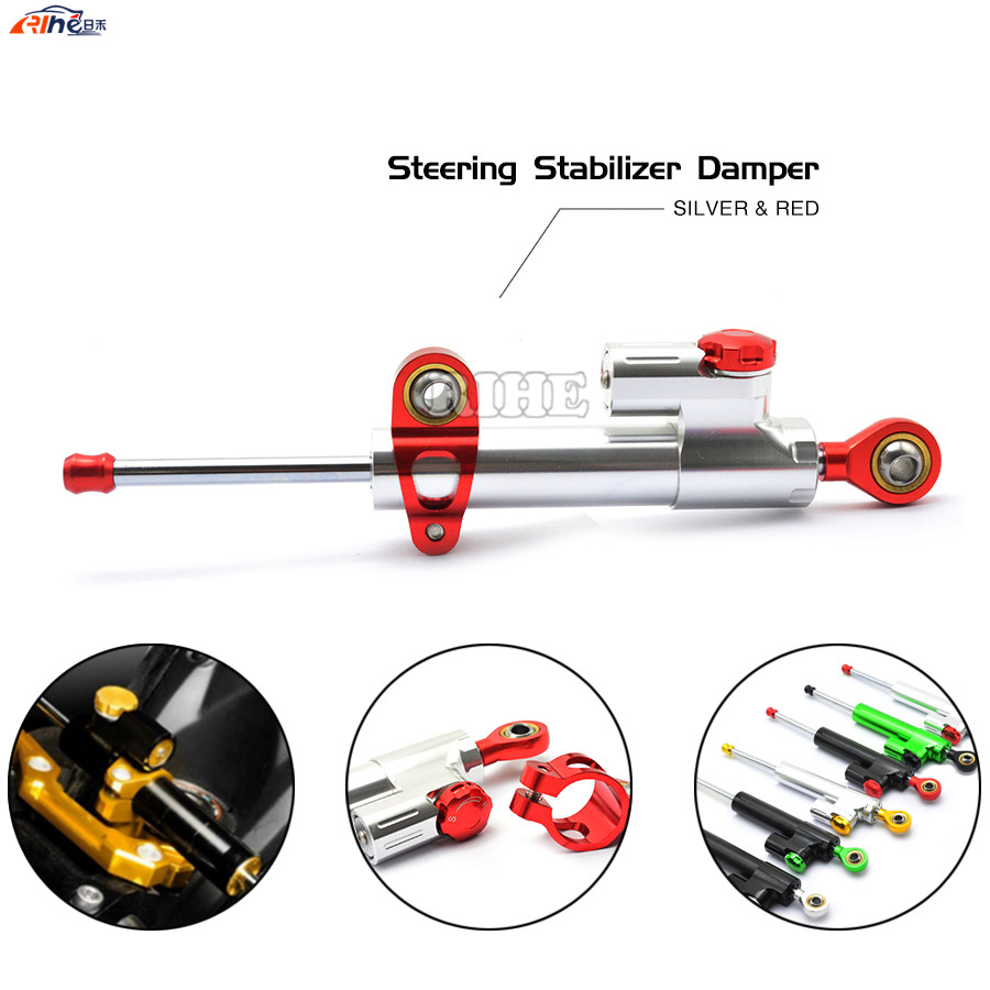 Universal Motorcycle CNC Damper Steering Stabilizer Linear Reversed Safety Control for HONDA MSX125 MSX125SF BMW S1000RR F800GS<br>