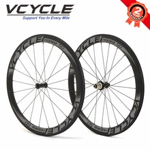 VCYCLE NOPEA50 50mm Tubular Powerway R36 Straight Pull Carbon Wheels 700C Bike Wheelset