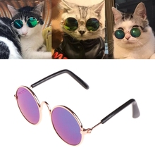 Fashion Glasses Small Pet Dogs Cat Glasses Sunglasses Eye-wear Protection Pet Cool Glasses Pet Photos Props color randomly(China)
