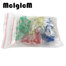 86052 500Pcs/lot 3MM LED Diode Kit Mixed Color Red Green Yellow Blue White