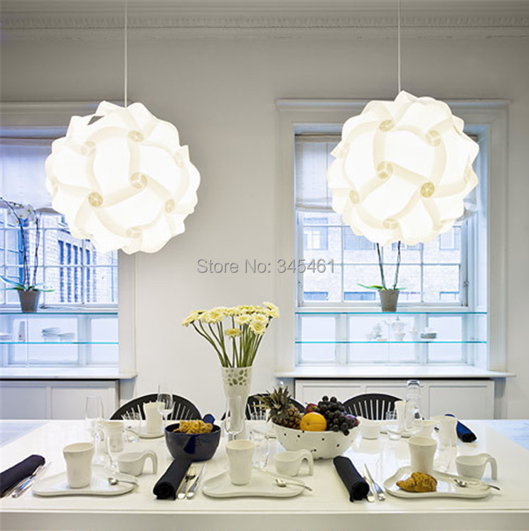 Hot Sale!!! IQ Creative Pendant Lamps Dia 30cm PVC Novel Pendant Lamp Nice-Looking 7 Colors DIY Puzzle Pendant Lights for Room<br><br>Aliexpress