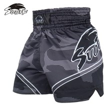 SUOTF White Tiger Tiger Boxing Sports Boxing White Tiger Boxing Shorts Contest Training Special Shorts kickboxing shorts mma(China)
