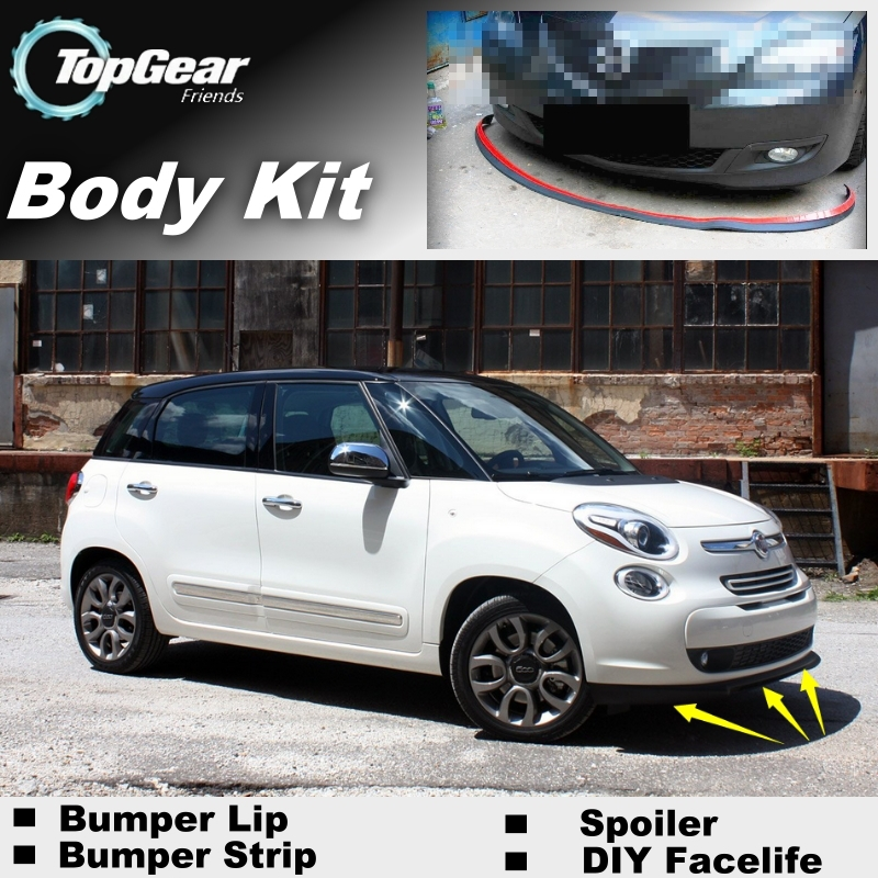 Front Bumper Lower Moulding Spoiler Strip Fits FIAT 500L 2012