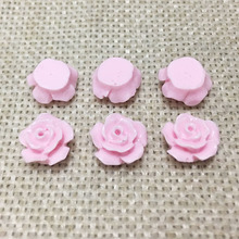 25pcs resin flowers cabochons cameo flat back no hole loose beads Daisy mobile phone case glue on decoration creative diy craft(China)