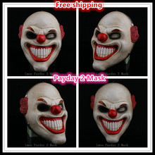 2016 Resin halloween mask PAYDAY 2 dallas US National flag Horror Heist joker clown masquerade scary masks mardi gras