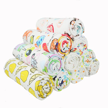 Buulqo New  50x170cm printed colorful baby cotton knitted fabric DIY soft cotton baby knitted jersey fabric