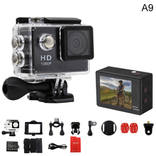 Action Camera A9 1080P 140D Full HD 2'' Waterproof Outdoor Mini Cam 1920*1080 go Sport Video pro Camera hero 3 style