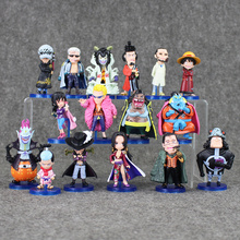 8pcs/lot 6~9cm 2styles Anime One Piece Mini Action Figures The Straw Hats Luffy Roronoa Zoro Sanji Chopper Figure Toy collection