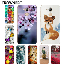 "CROWNPRO Soft TPU 5.2"" Huawei Honor 6C PRO Case Cover Phone Back Huawei Honor V9 Play JMM-L22 Painted Case Huawei Honor 6C PRO(China)"