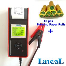 LANCOL MICRO-568 Diagnostic Tool Professional Car Battery Tester 12V with printer with 10pcs printing paper rolls(China)