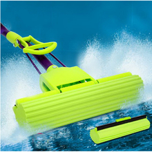 140204/Absorbent sponge mop/Carbon steel rods/Fold Squeeze Water Sponge Mop/Squeeze household glue cotton mops/(China)